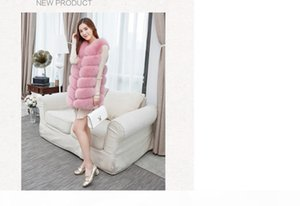 Fashion Patchwork Faux Fur Vest Female Winter Warm Women's Sleeveless Jacket Plus Size Waistcoat For Women Fur Cardigan 4XL