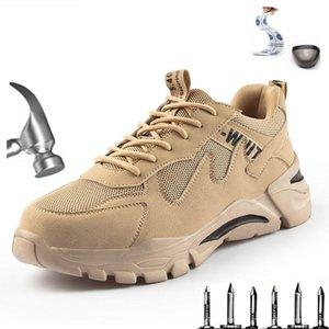 부츠 남성 철강 발가락 안전 신발, 경량, 통기성, 스매시 방지, 펑크 방지 신발 스포츠