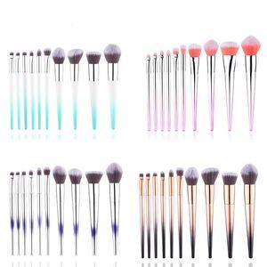 10Pcs Gradient Makeup Brushes Set Colorful Blush Concealer Eye Shadow Eye Liner Professional Beauty Makeup Brush Tools