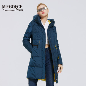 MIEGOFCE 겨울 새로운 여성 컬렉션 코트 길이 여성 자켓 소프트 계층 대비 디자인 겨울 파카 방풍은 201,026 옷