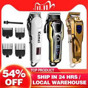 Kemei hair clipper cordless haircut mens beard razor hair trimmer electric Hair Clipper styling tool 5