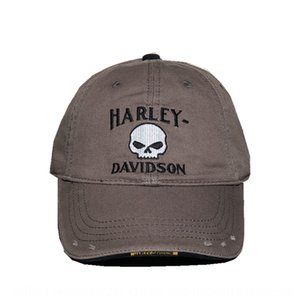 High quality Pointed cap Harley wash baseball hole baseball cotton peaked cap for men 2QV5t