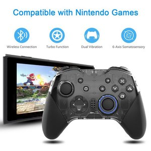 Bluetooth NS Pro Controller Wireless Joystick with NFC Turbo Vibration Macro-Programming for Switch PC