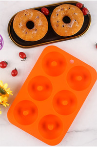 2021 New Arrival Silicone Donut Mold Baking Pan DIY Doughnuts 6 graid Mould Maker Non-stick Silicone Cake Mold Pastry Baking Tools