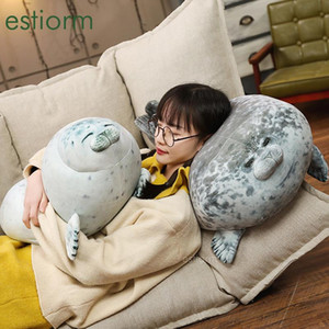 fluffy Chubby Seal Pillow - Stuffed Cotton Animal Toy Gift for Kids girl Friend,Small Large Cute Plush Throw Pillow, Hug pillow