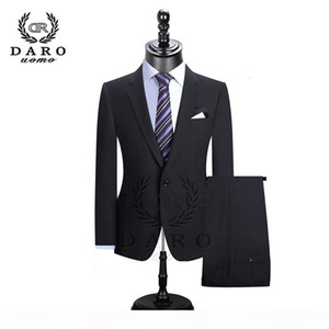 DARO 2019 Men Suits Blazer With Pants Slim Fit Casual One Button Jacket for Wedding DR8158 SH190916