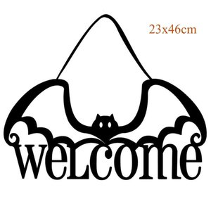 Yoriwoo Non Woven The Witch Is In Halloween Door Hanging Sign Party Pendent Ornaments Happy Halloween Decoration For Home 2020 jllQmI