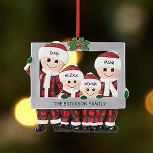 Christmas Love Family Pingente Photo Frame DIY Nome Bênção Ornamento Árvore de Xmas Hanging Pingentes Decoração Do Partido DHB2726