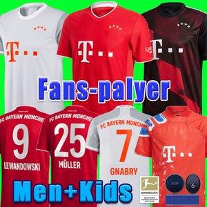 20 21 ventiladores versión del reproductor SANE Lewandowski COMAN Bayern Munich Gnabry fútbol jersey 2020 2021 Camiseta de fútbol NIANZOU MUNCHEN KIDS uniforme