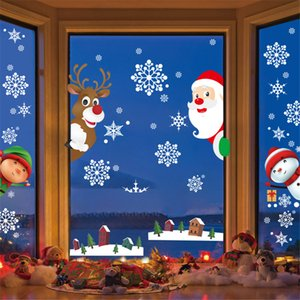 Removable Christmas Window Stickers for Children Self Adhesive Decorations for Home Showcase Stickers Glass Wall Decals