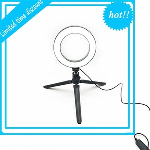 Led Ring Photo Studio Camera Selfie With Static Holder Photography Filling Video Light For Youtube Make-Up