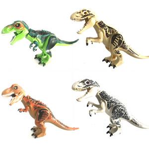 Dinosaur World Tyrannosaurs Rex Model Building Blocks Enlighten Figures Toys For Children with Assemble Block
