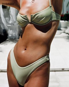NEW! Swim Bikinis Set V splice Front Wire Low Cut Bralette Bikini Maillot De Bain Femme Swimming Suit For Women Biquin