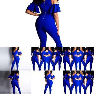 P7U Setshoulder SetShoulder Tops Femenino apilado Flare Crop Jumpsuit Negro Mesh acnt Two Pie Pants Pantalones Traje Femenino Deporte Twoset