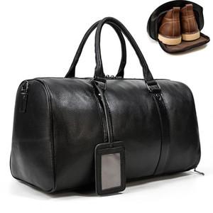 Maheu mujer bolsa de viaje de cuero de lujo de los hombres de cuero duffle bolsas weekener bolsa de viaje de vuelo que viajan gimnasia masculina los hombres