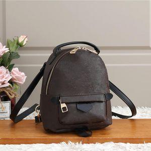 Горячая распродажа бренд дизайнер новая девушка Palm Springs Mini рюкзак детей рюкзаки женщины мужские печать PU кожи мини школьные сумки 11ap2
