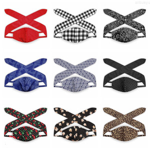 in 1 Face Mask Headband Ear Protective Women Gym Sports 2 Yoga Hairband Cross Hair Band Elastic Bow Wave leopard Hairlace Headress G