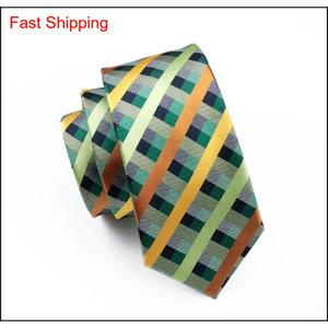 Multi Stripes Mens Neck Tie Set Lapel And Handkerchief Fashion Silk Jacquard Neckwear Brand Necktie Woben Tie qylHsa bdehome