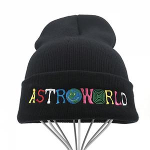 Travi$ Knitted Hat New Beanie embroidery ASTROWORLD Ski Warm Winter Unisex Travis Scott Skullies Beanies