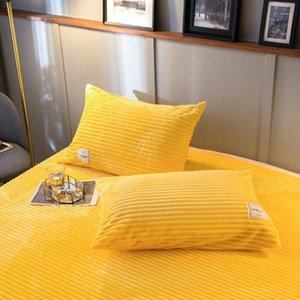 Bonenjoy Flannel Pillowcase 300GSM Spessore morbido cuscino Sham Cover 48x74 Federa Cover 201113