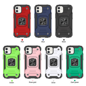 Car Holder Magnet Suction PC+TPU Hybrid Layer Case For LG Stylo6 Stylo5 Stylo 6 5 Aristo 5 4 3 2 Shockproof 360 Finger Ring Defender Cover