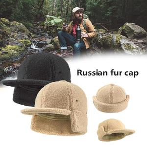 Unisexe en peau de mouton de fourrure chaud Hat automne et en hiver respirant Cap pour Camping Alpinisme Casual Porter