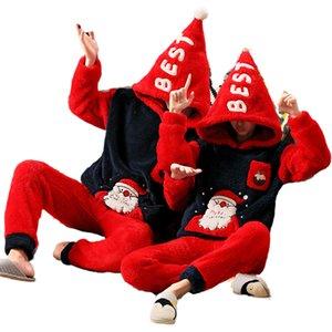 Noel Pijama Çiftler Whimsy Pijama Kış Sıcak Gecelikler Bayanlar Set Flanel Caiyier Cadılar Bayramı Thi Hediye Pijama Aile Qgiai
