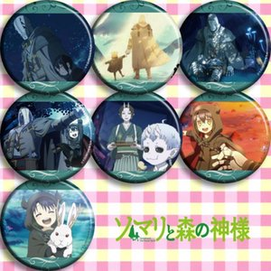 1pc 58mm badges Anime Somali to Mori no Kamisama Somali and the Forest Spirit Brooch Icons Broche1