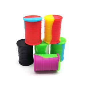 Nonstick 11ML jar Circular barril de cera recipientes de silicone caixa de silicone recipiente de alimentos jarra ferramenta frasco de armazenamento dhl livre