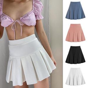 4 couleurs Jupe plissée courte femme taille élastique minijupes sexy Mircro été Broderie Mini Jupe de tennis Fille Jupes plissées