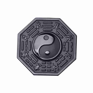 2020 Hot sale 100% Natural Black Obsidian Amulet Yin Yang Taiji Gossip Lucky Pendant Beads Chain Necklace For Women Men Chinese Jewelry