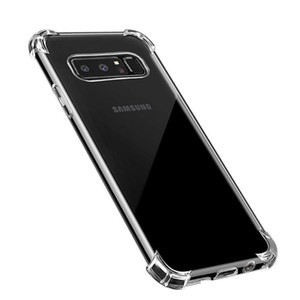 Teléfono de la cubierta a prueba de golpes TPU gel transparente para el iPhone Pro Max 11 X 8 7 Samsung Galaxy S10 S9 S8 Plus S10E Nota