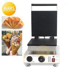 Hollande électrique Stroopwafel Machine Machine Gaufle Cône Cône de fabricant Saurup Assiettes de fer Non Stick Gaufre Enferme Cake Gâteau Four1