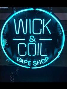 Неоновый знак для Wick Coil Vape Магазин Коммерческого Пивного клуба лампы resterant света Отель магазин магазин закусочная кофе Impact Привлечь свет