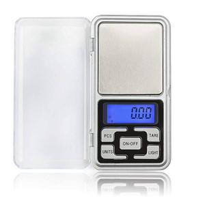 Digitale Taschenwaage Digitale Waage Schmuck, Gold, Silber Münze Grain Gram Pocket Size Herb Mini elektronische Hintergrundbeleuchtung Skala 12st