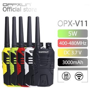 OPPXUN Talkie Walkie OPX V11 Portable Ham Radio Station UHF Telefon for Hunting Telsiz 10W 400-480MHz cb Headset for Transceiver1