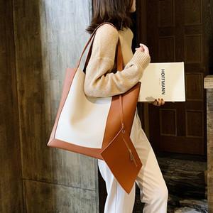 borsa secchiello patchwork casual per bas spalla delle borse delle donne del progettista di lusso cuoio dell'unità di elaborazione di grandi totes capacità borse shopper signora C1016