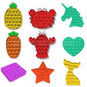 ABD stok sıcak itme kabarcık fidget oyuncaklar pop it otizm özel ihtiyaçları stres relie stres rahatlatmak yardımcı olur ve odak yumuşak sıkmak oyuncak artırmak yardımcı olur