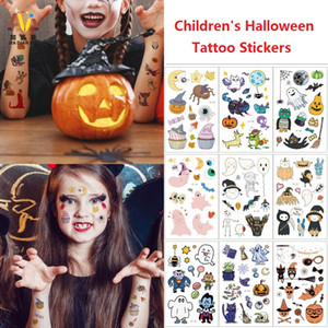 Cartoon Hallowoon Tattoo For Kid Fake Tatoo Children Halloween Body Art Waterproof Temporary Tattoo Sticker Saint's Day