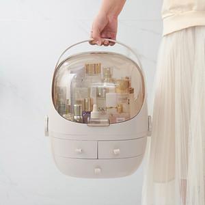 Crochette acrylique transparente 3 Table coiffeuse à tiroirs arrondie Boîte de rangement de support de maquillage pour lèvres bijoux cosmétique organisateur y200111