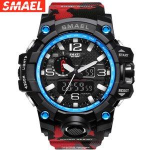 SMAEL SMAEL Watch 1545 Sangles de camouflage Trend de mode Multi-fonction Deep Imperméable Homme Homme