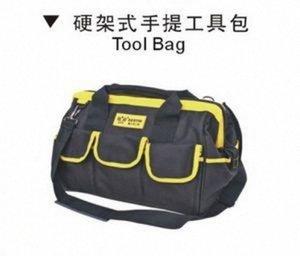 Bestir Taiwan hizo una excelente calidad Oxford PVC tamaño grande 45 * 25 * 32 cm Bolsa de herramientas de boca grande de marco rígido, no.05133 MTDS #