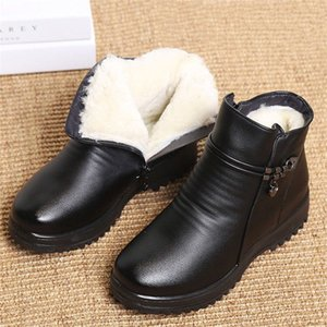 Boot Women Genuine Leather Shoes For Winter Boots Shoes Woman Casual Spring Genuine Leather Botas Mujer Female Ankle Boots dd449