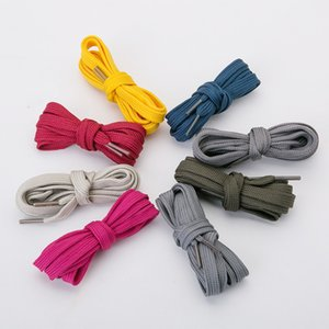 Double-layer flat ribbon shoelace polyester hollow double-layer shoelace black and white color