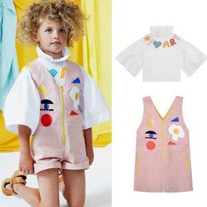 Raspberry Plum Enfants Filles Élégantes Combinaisons roses et Blouse assorties Toddler Summer Spring Vêtements Vêtements Enfant Marque C1223