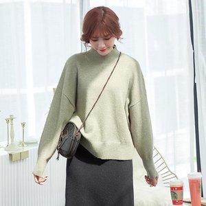 DMLFZMY 2020 Nueva Moda Otoño Mink Terciopelo Suéteres Sólidos Mujeres Casual Winter Warm Soft Soft Pullovers Mujer Jersey de Moda1