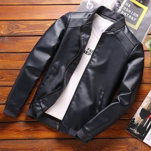 Thoshine Brand Spring Autumn Men Leather Jackets Classic Slim Fit Male PU Leather Coats Motorcycle Biker Streetwear Smart Casual A1105