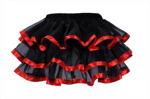 Black Mesh Amp;Lace Bows Decoration Multilayer Sexy Micro Mini Tutu Skirts Faldas Saia Cortas Showgirl Dance