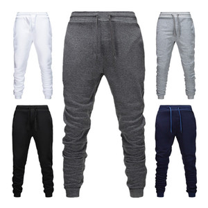 2021 Fashion Men's Loose Trousers Sport Gym Exercise Tracksuit ny Jogging Joggers Sweat Rope Tie Pants Mens Slim Fit Pants