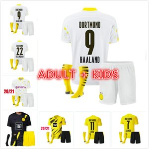 Haaland 9 Hazard 10 Borussia 20 21 Dortmund Soccer Jersey Emre Can 23 2020 2021 Chemise de football Sancho Reus Hummels Hommes + Enfants